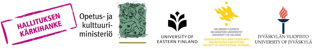Hallituksen kärkihanke, OKM logo ja yliopistojen logot